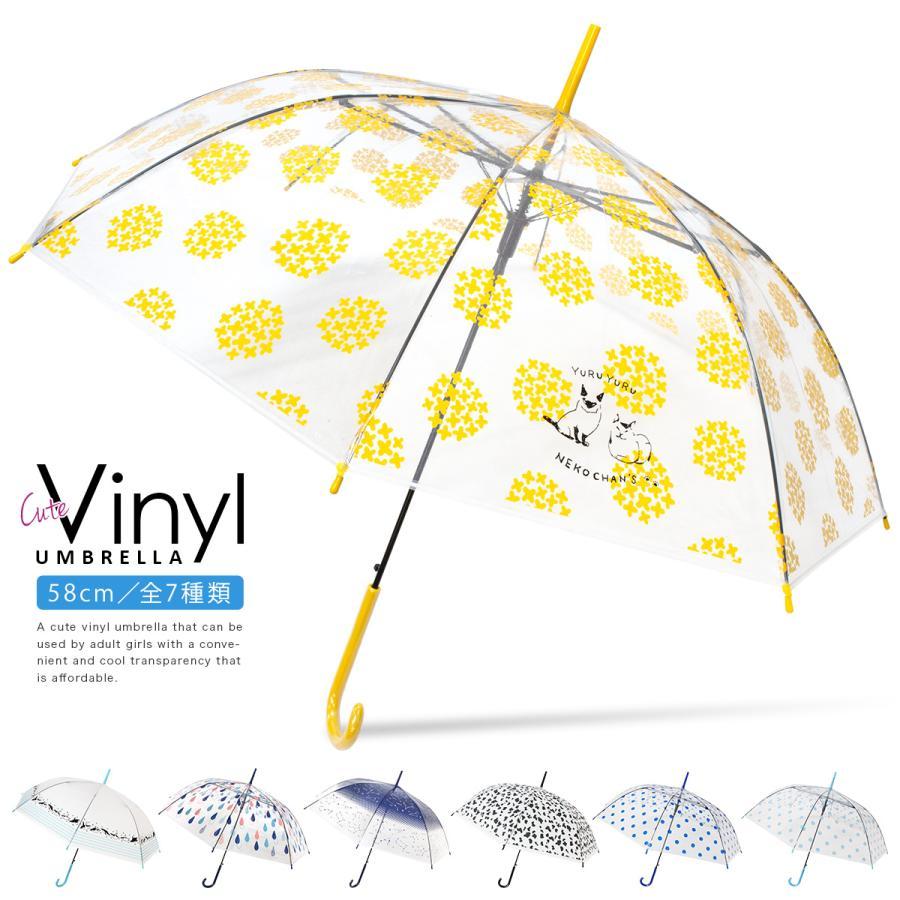 傘 レディース ビニール傘 かわいい おしゃれ ワンタッチ ジャンプ story-web