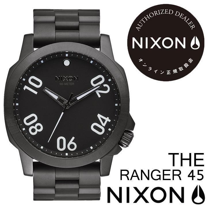 【正規品質保証】 NIXON ニクソン 腕時計 THE RANGER 45 ザ レンジャー 45 ALL BLACK オールブラック, パーツモール 36cd64e2