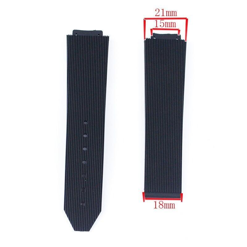 ウブロ Hublot用 互換ベルト 21x15mm シリコン ラバーバンド バックルなし|strap24store|02