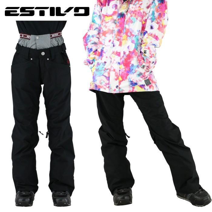 品質保証 エスティボ ボトムス 防寒 起毛 スキーパンツ 防水 レディース メロウパンツ スノボウェア 黒 ブラック, 激安家具 KA@GU eae04805