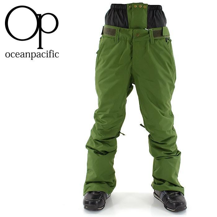 スノボウェア スノーボード パンツ OP 545524 オーピー スノボーウェア ボトム スリム 細身 シンプル 無地 オーシャンパシフィック OCEAN PACIFIC オリーブ