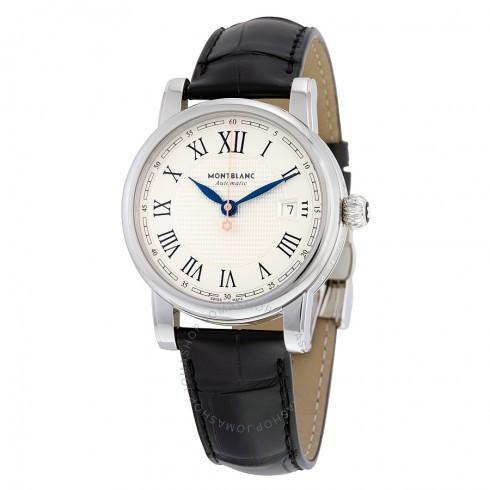 【爆売りセール開催中!】 Montblanc/モンブラン White メンズ 腕時計 Montblanc Star White Dial メンズ Black Black 革製 メンズ Watch 113644, 色無地着物専門 みやこさかえ:fa685b5b --- airmodconsu.dominiotemporario.com