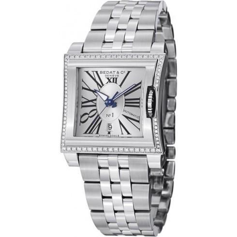 大きな取引 Bedat/ベダ&カンパニー レディース 腕時計 No 1 シルバー Dial Diamond Bezel ステンレス鋼 レディース Watch 118.021.101, encounter 5 afb2f374