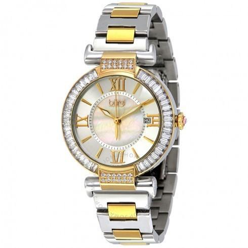 【税込】 Burgi/バーギ レディース 腕時計 シルバー Dial Two-tone ステンレス鋼 レディース Watch BUR082TT, イボガワチョウ 4ae48a13