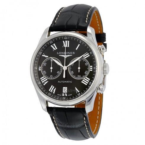 人気商品 Longines/ロンジン メンズ 腕時計 Master 自動巻き Black Dial Black 革製 メンズ Watch L26294517 L2.629.4.51.7, 中古DVDもんきーそふと c777c51d