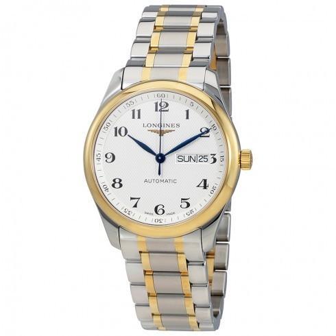 【レビューを書けば送料当店負担】 Longines シルバー/ロンジン メンズ 腕時計 Master シルバー Dial 自動巻き Tone メンズ 自動巻き Two Tone Watch L2.755.5.78.7, でんきのパラダイス 電天堂:7596c144 --- airmodconsu.dominiotemporario.com