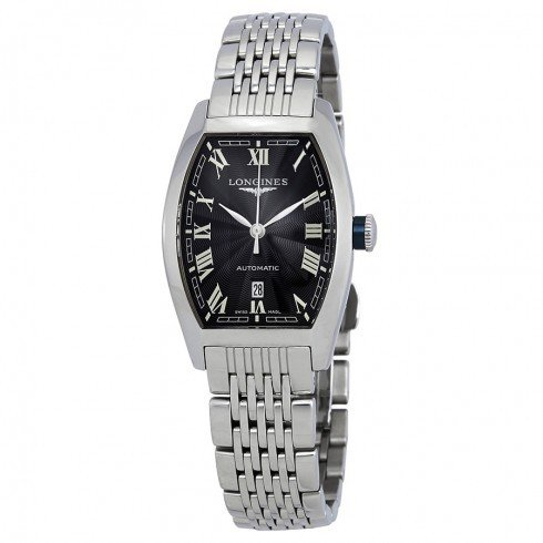 品質は非常に良い Longines/ロンジン レディース 腕時計 Evidenza Black Dial 自動巻き レディース Watch L21424516, ファミリーシューズ スワッティー 42e2d985