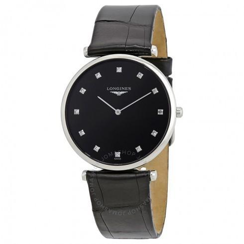 【オープニング大セール】 Longines/ロンジン レディース 腕時計 La Grande Classique Black Diamond Dial レディース Watch L4.709.4.58.2, A1ストア 0937b0f7