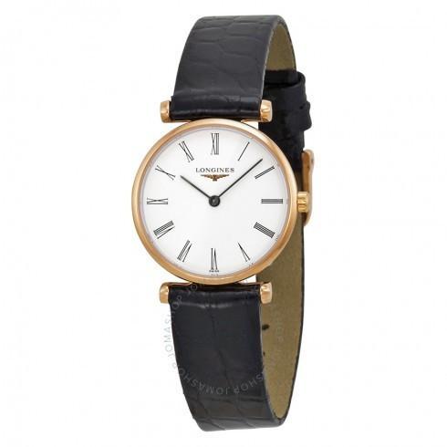 【在庫あり】 Longines/ロンジン レディース Grande 腕時計 革製 レディース La Grande Classique White Dial Black 革製 レディース Watch L42091912, バーズソウル:7e438f69 --- airmodconsu.dominiotemporario.com