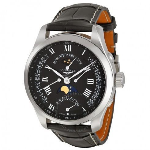 愛用  Longines/ロンジン メンズ 腕時計 Collection Master Collection L27394517 Multi-Function Dial Black Dial Black 革製 メンズ Watch L27394517 LNG27394517, キョウワチョウ:61c587e8 --- airmodconsu.dominiotemporario.com