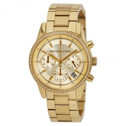 グランドセール Michael Kors/マイケルコース レディース 腕時計 Ritz ゴールド Tone Dial レディース クロノグラフ Watch MK6356, 日之影町 1b68f577