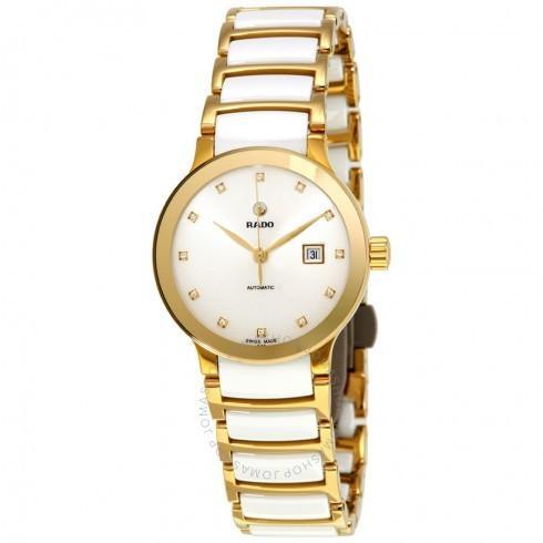 日本製 Rado/ラドー レディース 腕時計 Centrix White Diamond Dial 自動巻き レディース Watch R30080752, 王子木材緑化 f8f1d2b9