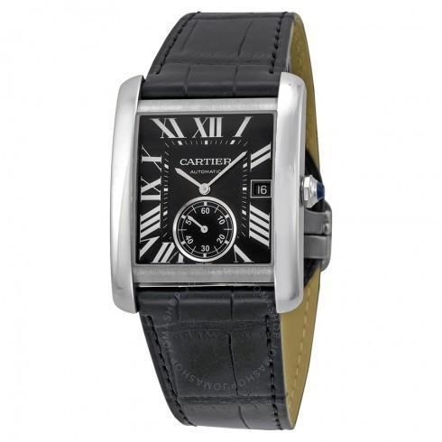 沸騰ブラドン Cartier/カルティエ メンズ Watch MC 腕時計 Tank MC 自動巻き Black Dial メンズ Black 革製 メンズ Watch W5330004, 出産祝い*ブレーメンの散歩道:bc6fc129 --- sonpurmela.online