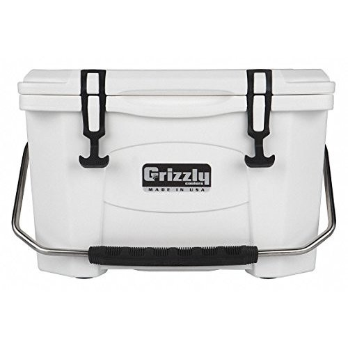 Grizzly/グリズリー クーラーボックス Plastic 20.0 qt. Marine Chest Cooler Ice Retention Up to 4 days White