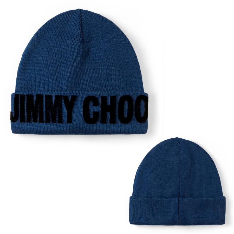 おすすめ JIMMY CHOO ジミーチュウ レディース ニット帽 ビーニー ニットキャップ FRAN ネイビー, エビスヤスポーツ 98721c3f
