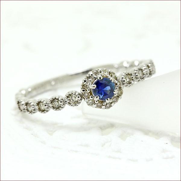 品質は非常に良い サファイア ダイヤモンド リング送料無料 アンティーク ダイヤモンド リング ダイヤ リング ミルライン 18金 K18 重ね着けリング, handicraft メルシー 1087fa68