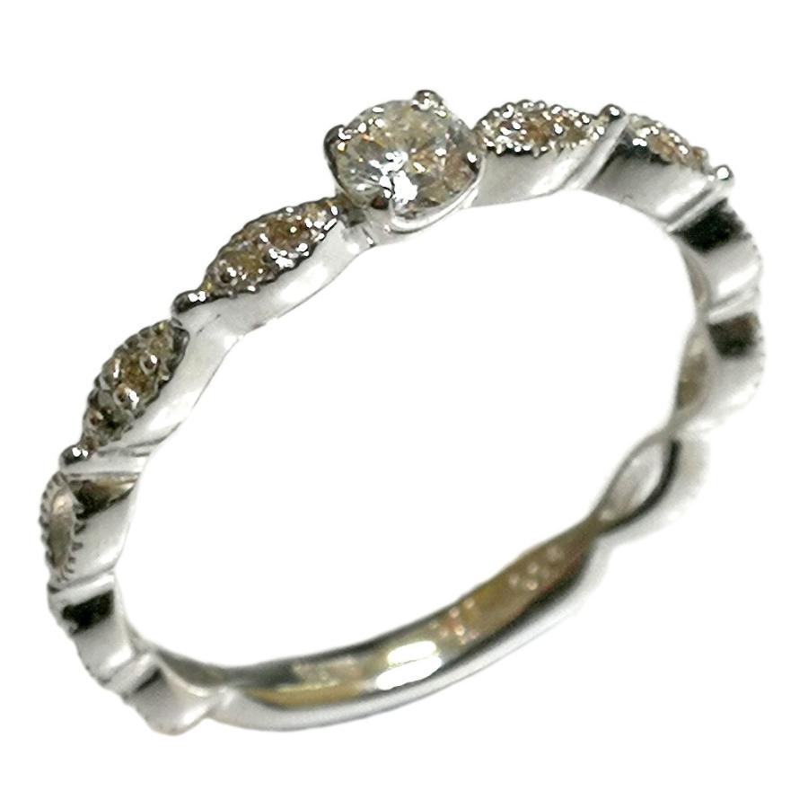 大きな割引 ダイヤモンド リング ジュエリー 18金 K18 ピンク PG イエロー YG ホワイト WG アンティーク風 レディース 指輪 ファッションリング 4月誕生石 送料無料, 京のはんこや幸栄堂 64b8c04b
