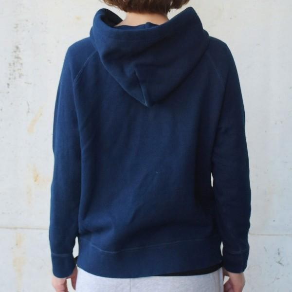 レディース 藍染め プルオーバー スウェット パーカー|studio-ichi|04