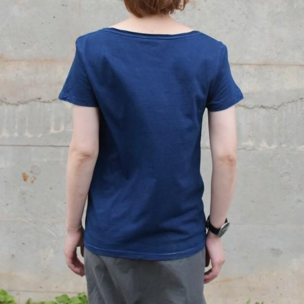 レディース 藍染め 半袖 Tシャツ 薄手 着心地良い カットソー studio-ichi 04