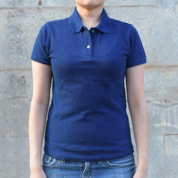 レディース 藍染め 半袖 ポロシャツ コットン インディゴ ギフト|studio-ichi|02