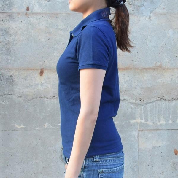 レディース 藍染め 半袖 ポロシャツ コットン インディゴ ギフト|studio-ichi|03