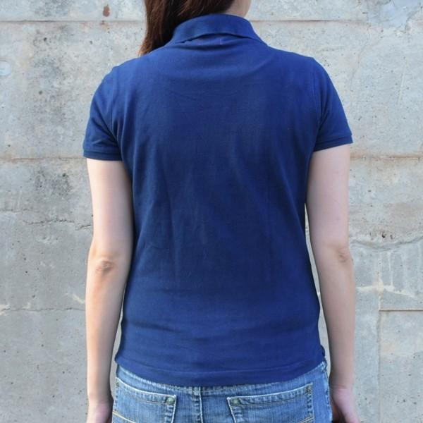 レディース 藍染め 半袖 ポロシャツ コットン インディゴ ギフト|studio-ichi|04