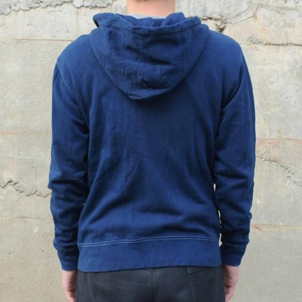 藍染め ジップパーカー スウェット 琉球藍染め メンズ トレーナー|studio-ichi|04