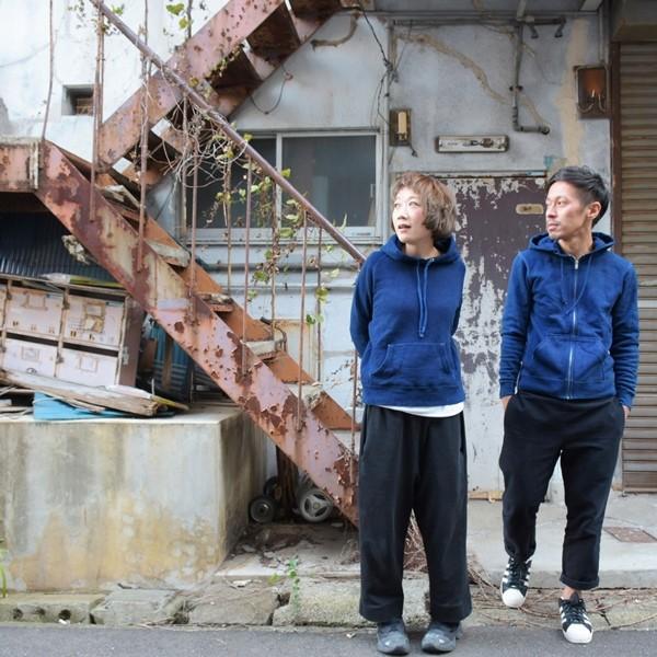 藍染め ジップパーカー スウェット 琉球藍染め メンズ トレーナー|studio-ichi|05