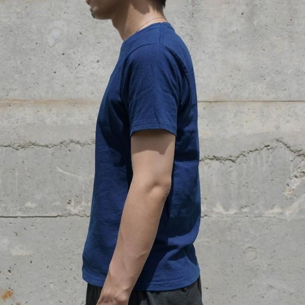 Tシャツ 半袖 コットン 綿 しっかり 藍染め 琉球藍染め メンズ カットソー studio-ichi 03