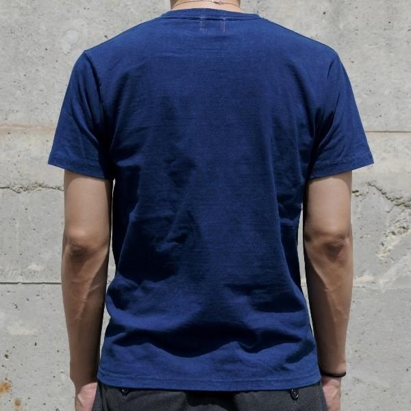 Tシャツ 半袖 コットン 綿 しっかり 藍染め 琉球藍染め メンズ カットソー studio-ichi 04