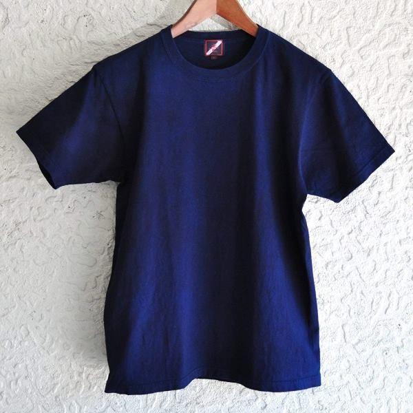 Tシャツ 半袖 コットン 綿 しっかり 藍染め 琉球藍染め メンズ カットソー studio-ichi 06