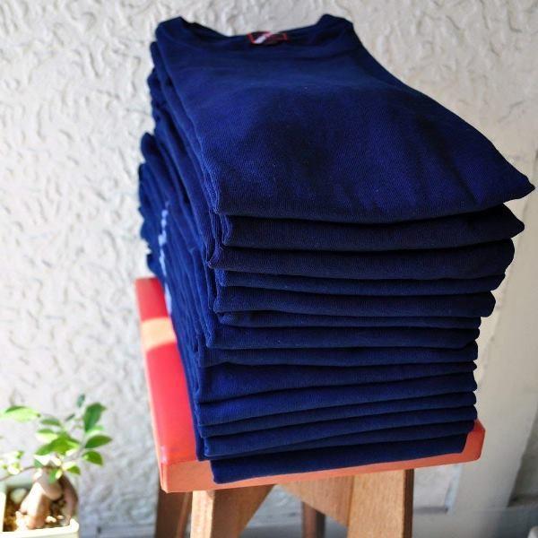 Tシャツ 半袖 コットン 綿 しっかり 藍染め 琉球藍染め メンズ カットソー studio-ichi 07