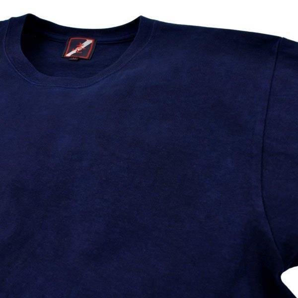 Tシャツ 半袖 コットン 綿 しっかり 藍染め 琉球藍染め メンズ カットソー studio-ichi 08