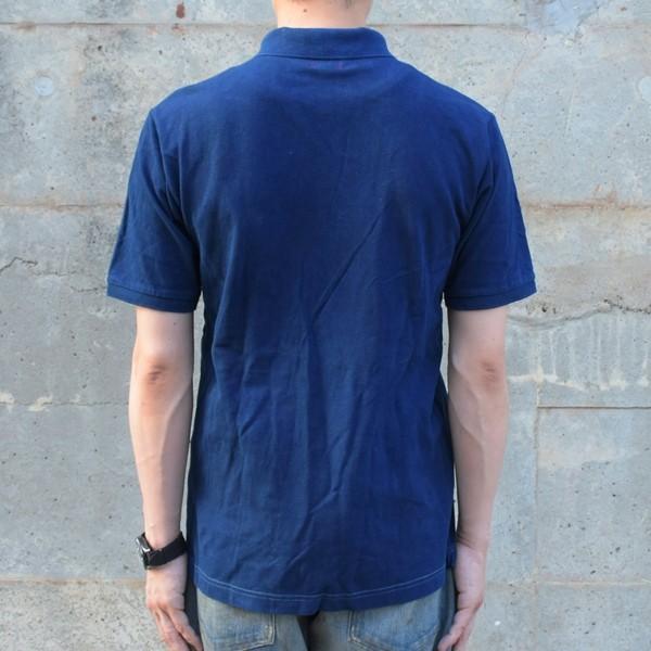 藍染 ポロシャツ 半袖 琉球藍染め メンズ コットン インディゴ 紺色 プレゼント ギフト|studio-ichi|04