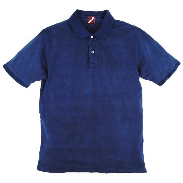 藍染 ポロシャツ 半袖 琉球藍染め メンズ コットン インディゴ 紺色 プレゼント ギフト|studio-ichi|05