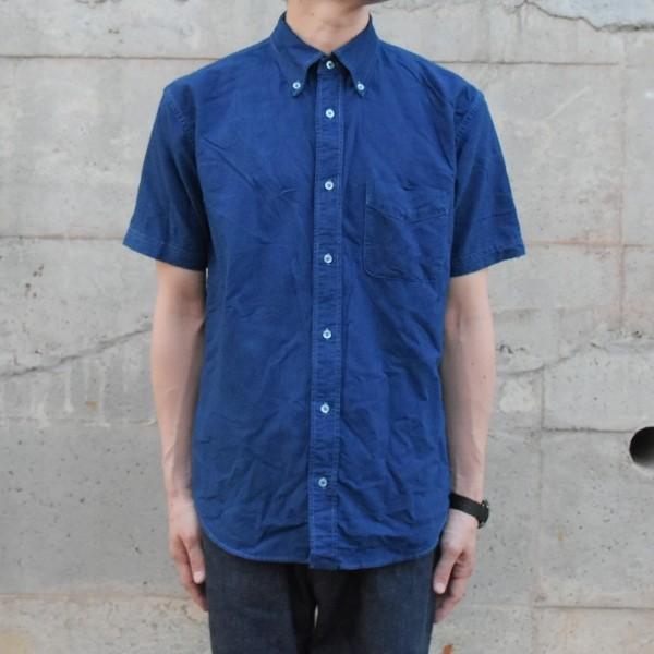 半袖 オックスフォードシャツ ボタンダウン 琉球藍染め メンズ 藍染め  コットン studio-ichi 02