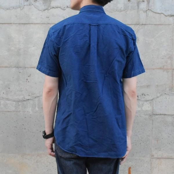 半袖 オックスフォードシャツ ボタンダウン 琉球藍染め メンズ 藍染め  コットン studio-ichi 04