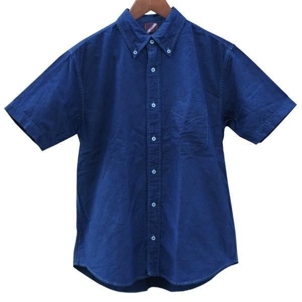 半袖 オックスフォードシャツ ボタンダウン 琉球藍染め メンズ 藍染め  コットン studio-ichi 05