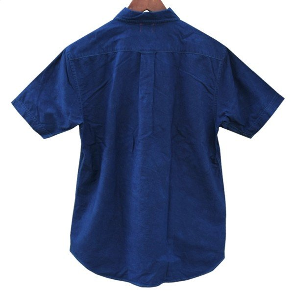半袖 オックスフォードシャツ ボタンダウン 琉球藍染め メンズ 藍染め  コットン studio-ichi 06