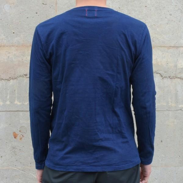 メンズ 藍染め ロンT ロングスリーブ Tシャツ 長袖 studio-ichi 04