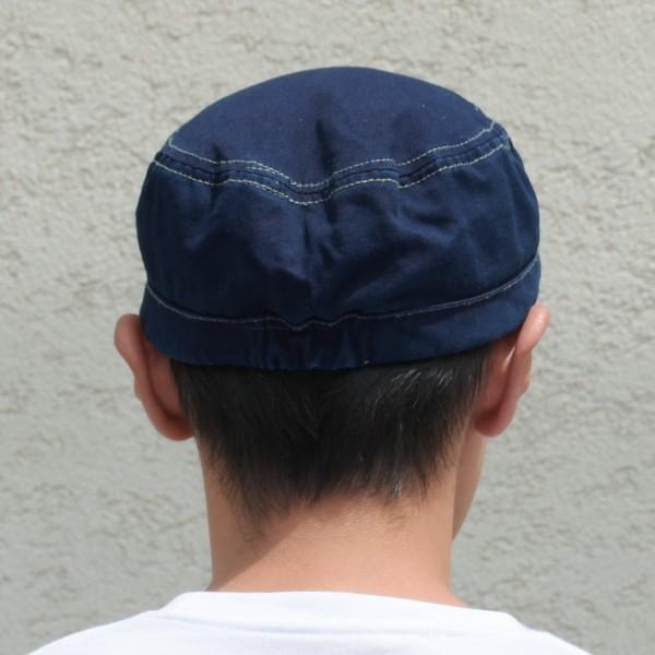 藍染め ワークキャップ インディゴ CAP 帽子 ミリタリー プレゼント ギフト ネイビー キャップ|studio-ichi|03