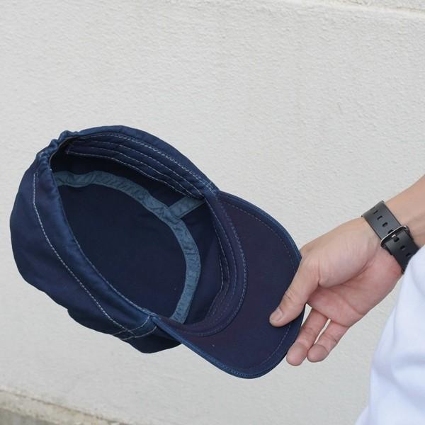 藍染め ワークキャップ インディゴ CAP 帽子 ミリタリー プレゼント ギフト ネイビー キャップ|studio-ichi|04