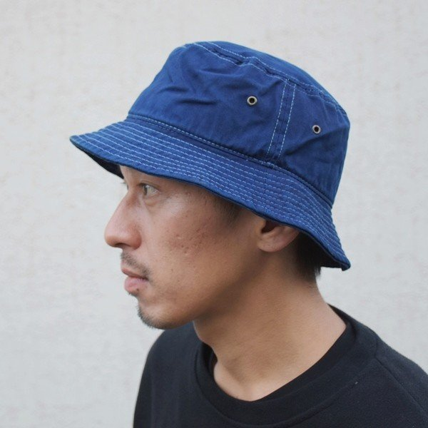 藍染め バケットハット インディゴ hat 帽子 2サイズ ギフト studio-ichi 05