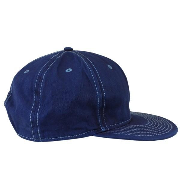 藍染め キャップ 帽子 インディゴ 野球帽 フラットバイザー ツイル メンズ レディース|studio-ichi