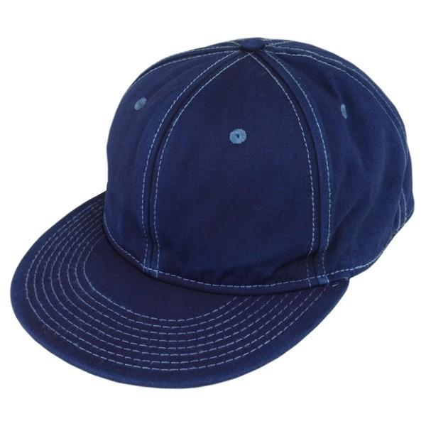 藍染め キャップ 帽子 インディゴ 野球帽 フラットバイザー ツイル メンズ レディース|studio-ichi|03