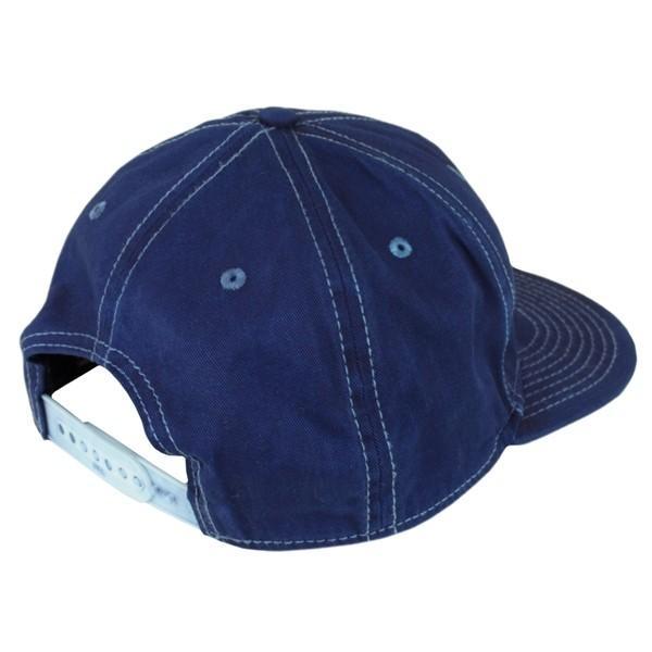 藍染め キャップ 帽子 インディゴ 野球帽 フラットバイザー ツイル メンズ レディース|studio-ichi|04
