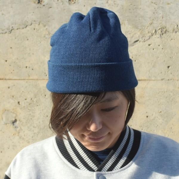 藍染め ニットキャップ メンズ レディース インディゴ 紺色 帽子 プレゼント ギフト studio-ichi 02