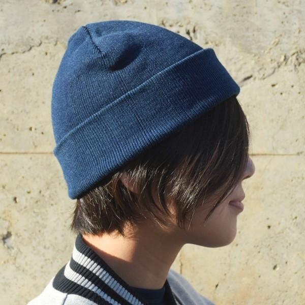 藍染め ニットキャップ メンズ レディース インディゴ 紺色 帽子 プレゼント ギフト studio-ichi 03