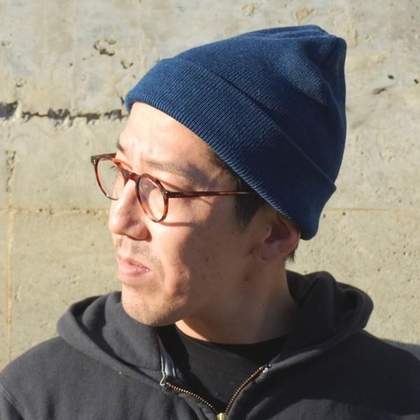 藍染め ニットキャップ メンズ レディース インディゴ 紺色 帽子 プレゼント ギフト studio-ichi 04
