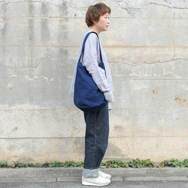 藍染め キャンバス バケット バッグ トートバッグ ワンショルダーバッグ 円柱 筒型|studio-ichi|04